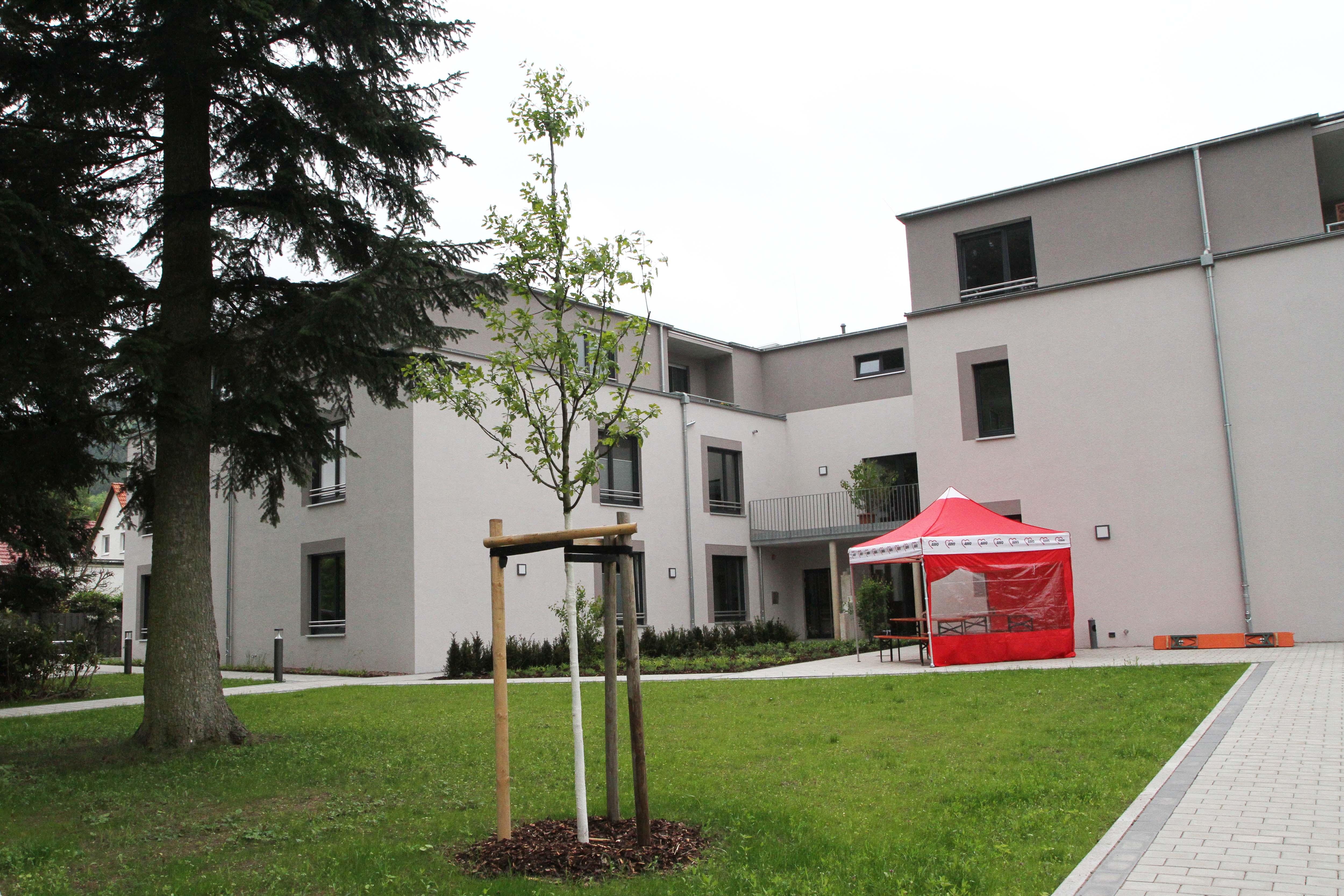 Gartenseitige Ansicht des AWO Wohnquartiers